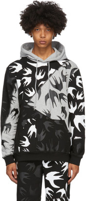 McQ Black and Grey Swallow Hoodie