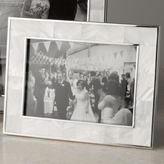 The White Company Mother of Pearl White Photo Frame 5x7
