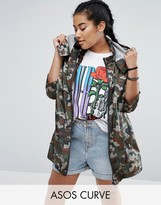 Asos Pac-a-Trench in Camo Print