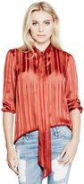 GUESS Felicity Satin-Striped Blouse