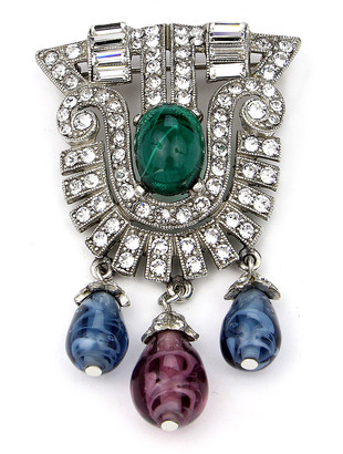 Ben-Amun Crystal Multi-Drop Brooch