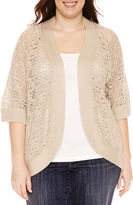 Liz Claiborne Crochet Shrug-Plus