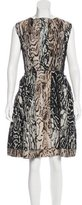 Lanvin A-Line Leopard Print Dress