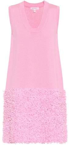 DELPOZO Cotton-blend knit dress