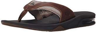Reef Men's Leather Fanning Flip Flops, Brown), 40 EU