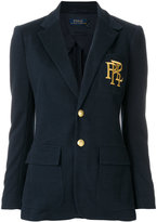 Polo Ralph Lauren embroidered single breasted blazer