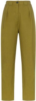 Mara Hoffman Jade high-waisted straight leg linen trousers