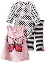 Bonnie Baby Baby-Girls Newborn Butterfly Fleece Jumper Legging Set