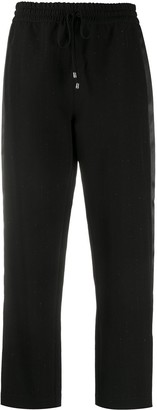 Patrizia Pepe Drawstring Straight-Leg Trousers