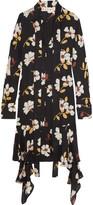 Marni Floral-print Silk-georgette Midi Dress - Black