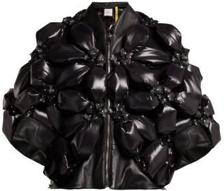6 Moncler Noir Kei Ninomiya - Flower Padded Jacket - Black