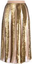 Manoush Golden Pailettes skirt - women - Silk/Viscose - 36