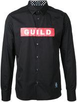 GUILD PRIME logo print shirt - men - Cotton - 1