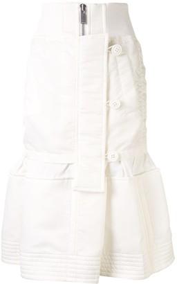 Sacai Deconstructed Peplum-Hem Skirt