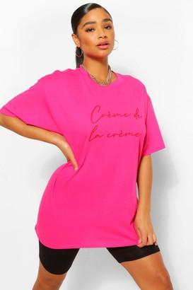 boohoo Plus Creme De La Creme Graphic T-Shirt