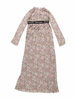Palm Angels Floral Print Maxi Dress Pink