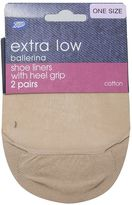 Boots Ballerina Shone Liners Nude 2 Pair Pack