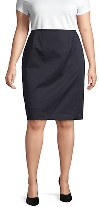 Lafayette 148 New York Plus Pencil Skirt
