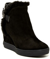 Aquatalia Cameron Faux Fur Trim Wedge Bootie