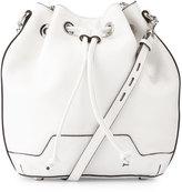 Rebecca Minkoff Fiona Leather Bucket Bag, White