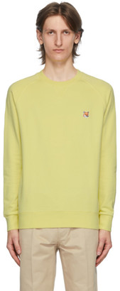 MAISON KITSUNÉ Yellow Fox Head Patch Sweatshirt