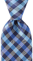 Roundtree & Yorke Trademark Equal Square Checked Traditional Silk Tie
