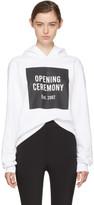 Opening Ceremony White Box Logo Hoodie