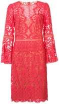 Tadashi Shoji lace embroidered midi dress