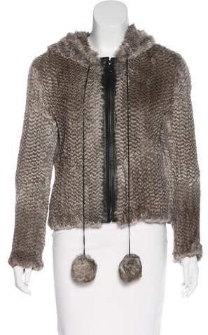 Karl Donoghue Leather-Trimmed Fur Jacket