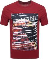 Armani Exchange Eagle City T Shirt Red