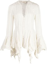 KHAITE Elliot draped blouse