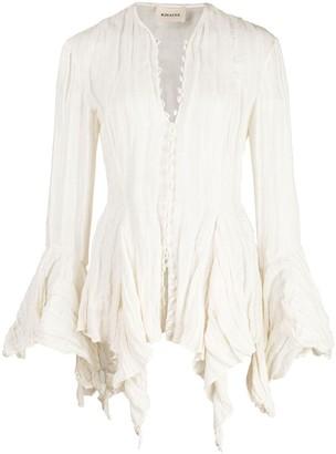KHAITE Elliot draped blouse