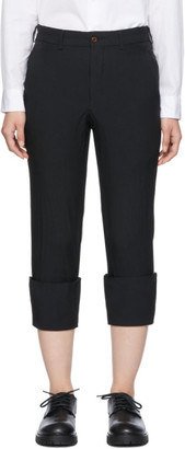 Comme des Garcons Black Turn Up Cuff Trousers