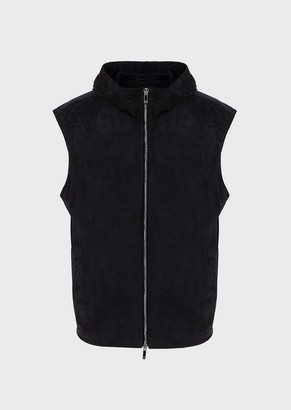 Giorgio Armani Gilet With Suede Front And Nylon Back