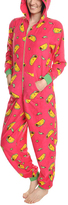 Angelina Pink Taco Hooded Plush Pajamas