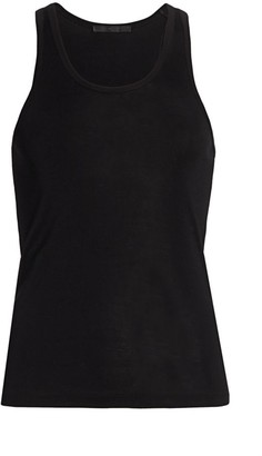Helmut Lang Silk Ribbed Tank Top