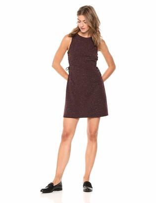 Cupcakes And Cashmere Women's Lindsay Marled Knit Bodycon w/lace up Sides
