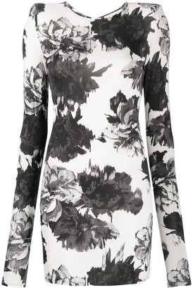 Alexandre Vauthier Floral Print Bodycon Dress