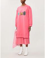 MM6 MAISON MARGIELA Logo-embroidered cotton-jersey mini dress