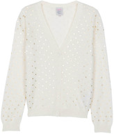 Little Karl Marc John Goudy Polka Dot Woollen Cardigan
