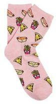 F&F Fast Food Ankle Socks, Women's