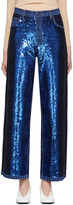 Ashish Navy Sequin Jeans