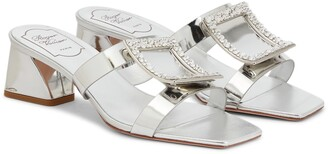 Roger Vivier Bikiviv' 45 metallic leather sandals