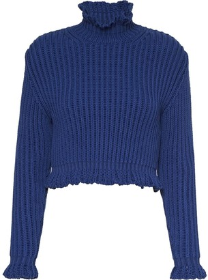 Miu Miu Chunky-Knit Cropped Jumper