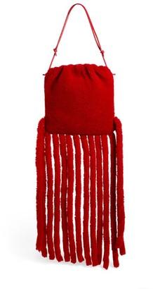 Bottega Veneta The Shearling Fringe Pouch Bag