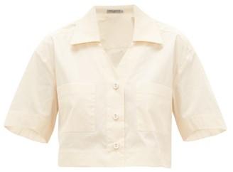 Three Graces London Lily Cropped Cotton-poplin Shirt - Cream