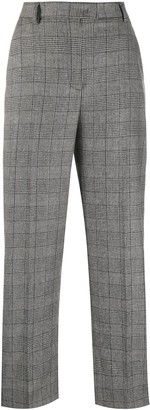Boutique Moschino Straight Leg Check Pattern Trousers