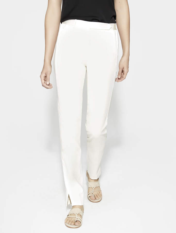 Halston Slim Tapered Pant with Satin Inserts