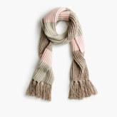 J.Crew Italian wool-blend striped scarf
