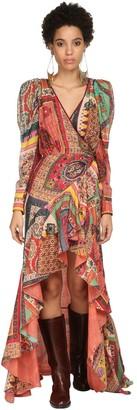 Etro Printed Gauze Wrap Dress